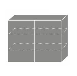 PLATINUM, skříňka horní W3 90, korpus: grey, barva: white stripes
