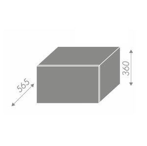 PLATINUM, skříňka horní W6B 60, korpus: bílý, barva: vanilla