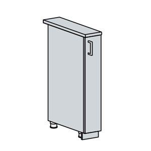 ANASTASIA, dolní výsuvný skříňka 15 CA, bílá/bříza