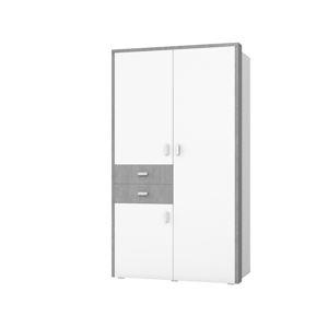 BOTA TYP 18 skříň 3D2S, bílá/beton colorado