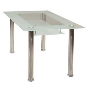 Jídelní stůl S3007-I, chrom + sklo