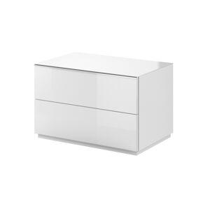 HELIO TYP 39 televizní stolek 1V, bílá/bílá sklo