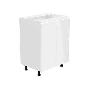 ASPEN, skříňka dolní D60, bílá/bílý lesk