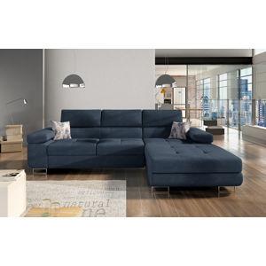Rohová sedačka ARMANDO Armd_29, pravá, šedo-modrá