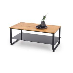 Konferenční stolek ARTIGA, dub zlatý/černá