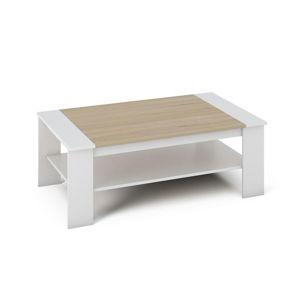 BAKER konferenční stolek, bílá/dub sonoma