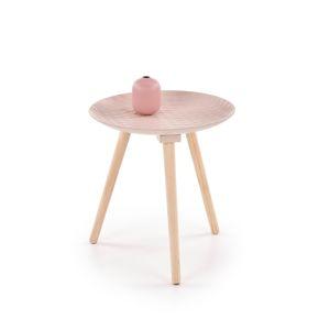 Odkládací stolek BINGO, světle růžová