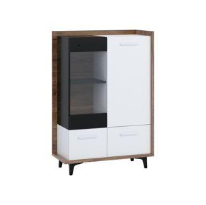 Box 13 – vitrína 3D, craft tobaco/bílá/černá