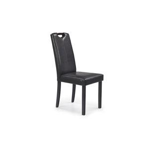 Jídelní židle CARO, wenge/ tmavě hnědá