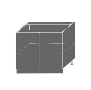 QUANTUM, skříňka dolní D11 90, vanilla mat/jersey