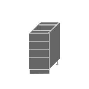 EMPORIUM, skříňka dolní D4m 40, korpus: grey, barva: light grey stone