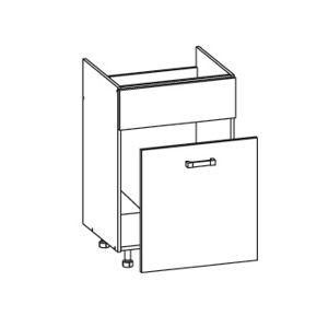 FIORE dolní skříňka DKS60 SAMBOX pod dřez, korpus wenge, dvířka bílá supermat