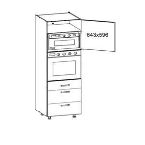 IRIS vysoká skříň DPS60/207 SMARTBOX pravá, korpus wenge, dvířka ferro
