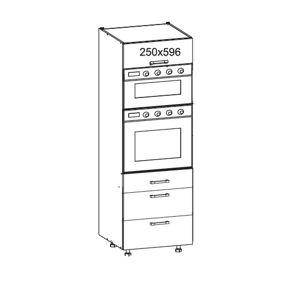 EDAN vysoká skříň DPS60/207 SMARTBOX O, korpus congo, dvířka béžová písková