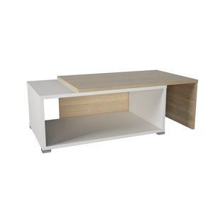 DRON konferenční rozkládací stolek, dub sonoma/bílá