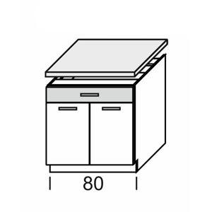 KAMDUO, dolní skříňka DUO DS8/1+PD, tráva/ořech