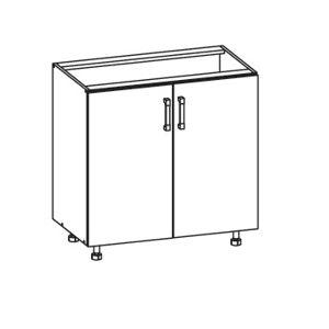 EDAN dolní skříňka D80, korpus šedá grenola, dvířka béžová písková