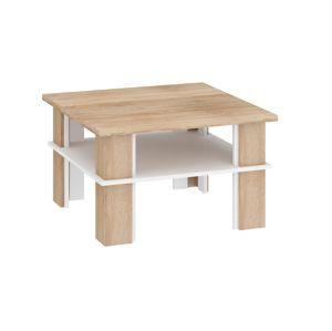 Konferenční stolek FUTURA 1, dub sonoma/bílá