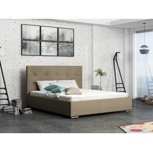 Čalouněná postel SOFIE 1 180x200 cm, béžová látka