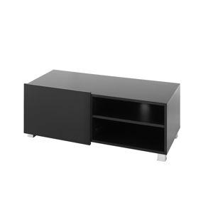 Televizní stolek GORDIA RTV1D, černá/černý lesk