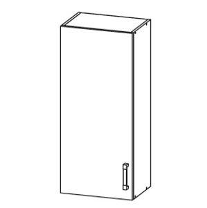 EDAN horní skříňka G45/95, korpus bílá alpská, dvířka dub reveal