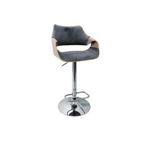 Barová židle H-98, šedá/přírodní
