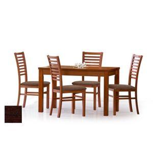 Jídelní stůl rozkládací ERNEST 120/160, ořech tm.