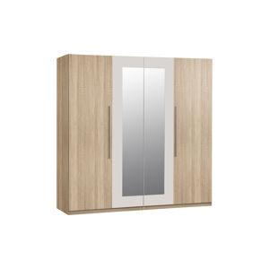 HELEN šatní skříň, dub sonoma/bílá