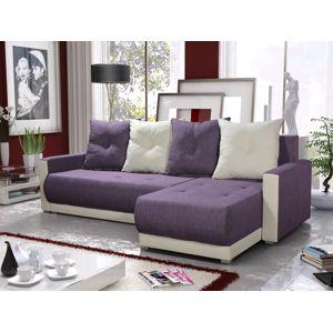 Rohová sedačka INSIGNIA BIS 14, fialová/krémová