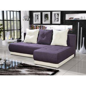 Rohová sedačka INSIGNIA 14, fialová/krémová