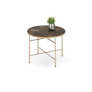 Kulatý konferenční stolek ISABELLE, mramor/champagne