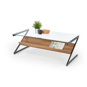 Konferenční stolek IZEDA, ořech medový/černá