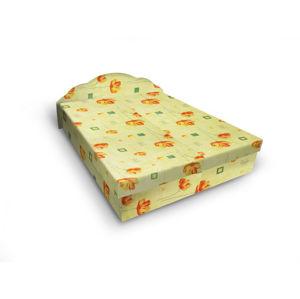 Čalouněná postel JITKA 180x200 cm, zelená látka