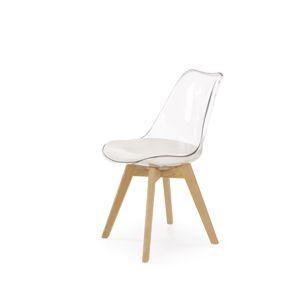 Jídelní židle K-246, průhledná / buk