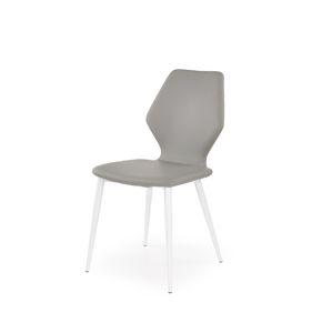 Jídelní židle K-249, bílá/šedá