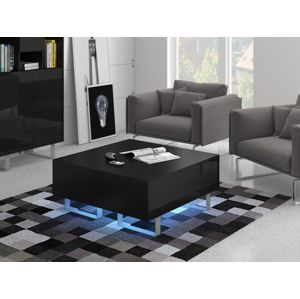 KING 8 konferenční stolek, černá/černý lesk