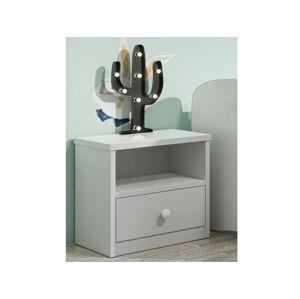 Noční stolek se zásuvkou BABYDREAMS bez vzoru, bílá - BABYDREAMS COLLECTION Night table bez wzoru