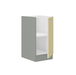 KARMEN, skříňka dolní 40 D 1F BB, šedá / krémový lesk