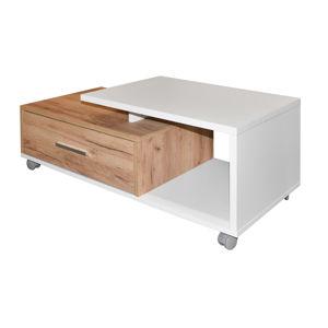 LEO konf.stolek, zlatý dub/bílá