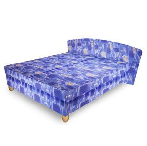 Čalouněná postel NICOL 140x200 cm, modrá látka