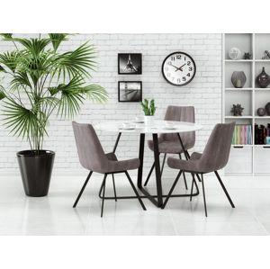 Kulatý jídelní stůl LOOPER, bílá/černá