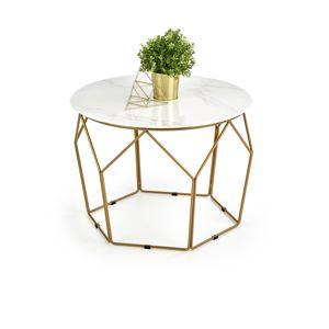 Odkládací stolek MADISON, mramor/zlatá