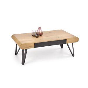 Konferenční stolek MARINA, dub zlatý/černá