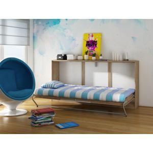 ROGER, multifunkční postel, craft zlatý/craft bílý
