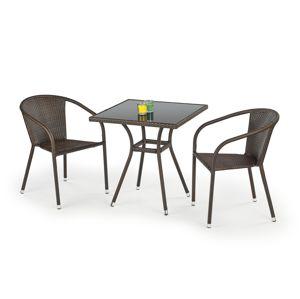 Stůl MOBIL, tmavě hnědá/černá