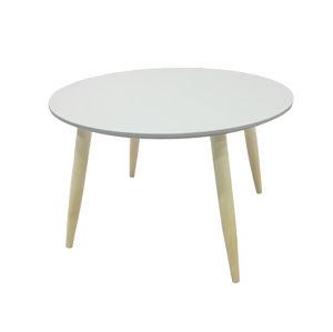 MANON odkládací stolek, bílá mat odkládací stolek, bílá mat