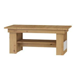 Konferenční stolek R MAXIM 17, dub artisan/bílý lesk