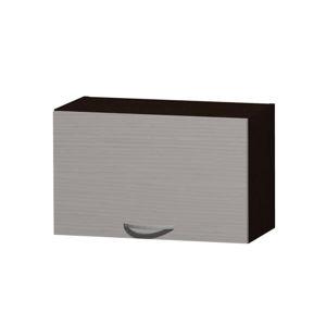 NELA horní skříňka H 60 N, korpus dub tmavý/dvířka woodline creme