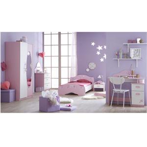 PAPILLON dětský pokoj, bílá/růžová dětský pokoj, bílá/růžová