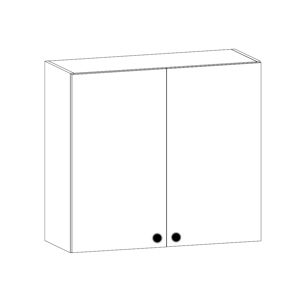 PROVANS horní skříňka s odkapávačem G80C, borovice andersen